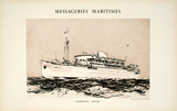 Mess Maritimes - Marechal Joffre Collectable Print by Albert Brenet