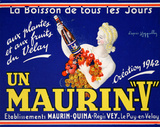 Maurin V Label Collectable Print by Leonetto Cappiello