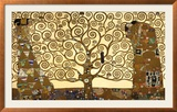 Elmnpuu, Stoclet Frieze, n. 1909 Posters tekijn Gustav Klimt