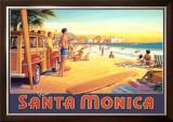 Visit Santa Monica Prints by Kerne Erickson