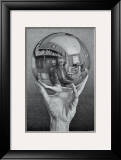 Hand with Globe Poster by M. C. Escher