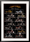 Motorcycle, Harley Davidson Posters