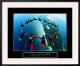 Teamwork: Skydivers II Prints
