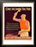 Iron in Fire Poster by Frank Mather Beatty