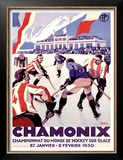 Chamonix, Hockey Poster by Roger Broders