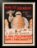 Le Pneu Michelin, Nunc Est Bibendum Posters