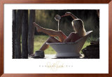 Cowgirl In Tub Prints by David R. Stoecklein