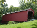 Allaman Covered Bridge in Henderson County, north of Nauvoo, Illinois, USA Photographic Print by Gayle Harper