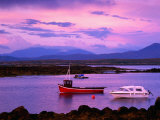 Boats Moored in Inlet, Sunset, Ireland Photographic Print by Richard Cummins