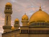Golden Mosque Domes, Jame'Asr Hassan Bolkia Mosque, Bandar Seri Begawan, Brunei Darussalam, Brunei Photographic Print by Holger Leue