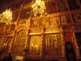 Icons in the Cathedral of the Dormition, Moscow, Russia Fotografie-Druck von Bill Bachmann