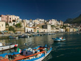 Town View from Port, Castellamare del Golfo, Scopello, Sicily, Italy Photographie par Walter Bibikow