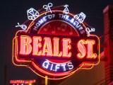 Neon Signs, Beale Street Entertainment Area, Memphis, Tennessee, USA Photographic Print by Walter Bibikow