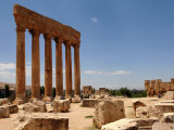 Ancient Roman Ruins of Baalbek, North-East of Beirut, in the Bekaa Valley, Lebanon, July 3, 2006 Photographic Print by Mahmoud Tawil