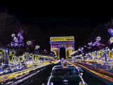 Champs Elysees and Arc de Triomphe, Paris, France Photographic Print by Bill Bachmann