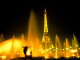 Fountain at the Eiffel Tower, Paris, France Photographic Print by Bill Bachmann