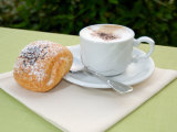 Morning Cappuccino at Eden Grand Hotel, Lake Lugano, Lugano, Switzerland Photographic Print by Lisa S. Engelbrecht
