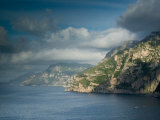Morning View of the Amalfi Coast, Positano, Campania, Italy Photographic Print by Walter Bibikow