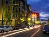 Headlights in the Pearl District, Portland, Oregon, USA Photographic Print by Janis Miglavs