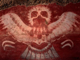 Mural from Tetitla, Eagle, Teotihuacan, Mexico Photographic Print by Kenneth Garrett