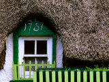 Thatched Cottage Window and Windowbox Detail, Mooncoin, Ireland Photographic Print by Richard Cummins
