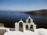 The Island of Santorini Seen from the Top of a Bell Tower Photographic Print