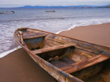Wooden Boat Looking Out on Banderas Bay, The Colonial Heartland, Puerto Vallarta, Mexico Photographic Print by Tom Haseltine