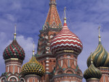 Onions of St. Basil's Cathedral, Red Square, Moscow, Russia Photographic Print by Bill Bachmann
