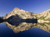 Mt Regan Reflects in Sawtooth Lake, Idaho, USA Photographic Print by Chuck Haney