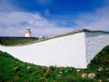 St. John's Point Lighthouse and Whitewashed Wall, Killybegs, Ireland Photographic Print by Richard Cummins