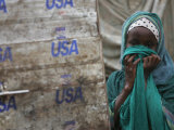 A Somali Child Covers Her Face at Dadaab Refugee Camp in Northern Kenya Monday, August 7 2006 Photographic Print by Karel Prinsloo