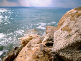 Rocky Shoreline with Salt Crystals, Dead Sea, Jordan Photographic Print by Cindy Miller Hopkins