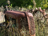 Old Abandoned Farm Tractor, Defiance, Missouri, USA Photographic Print by Walter Bibikow