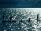 Children Fishing, Koror, Micronesia, Federated States Of Photographic Print by Michael Coyne