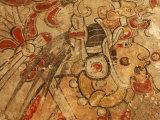 Maya Murals, Maya, San Bartolo, Guatemala Fotografiskt tryck av Kenneth Garrett