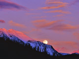 Full Moonrise over Cloudcroft Peaks, Glacier National Park, Montana, USA Photographic Print by Chuck Haney