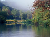 Morning Fog on River, Missouri, USA Photographic Print by Gayle Harper