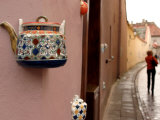 Teapot Decoration on Wall of Local Tea Shop, Vilnius, Lithuania Photographic Print by Bruce Yuan-yue Bi