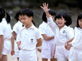 School Children, Hong Kong, China Lámina fotográfica por Paul Souders