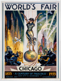 Chicago World's Fair, 1933 Framed Canvas Print by Glen C. Sheffer