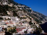 Houses Terraced into Amalfi Coastline, Positano, Italy Photographic Print by Dallas Stribley