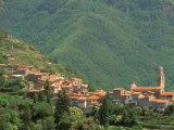 Hill Town View, Molini di Triora, Riviera di Ponente, Liguria, Italy Photographic Print by Walter Bibikow