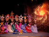 Dance and Fireworks called Bani Stui Gulal Tells the Story of the Guelaguetza, Oaxaca, Mexico Photographic Print by Igal Judisman