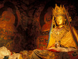 Monastery Statue, Lhasa, Tibet Photographic Print by Vassi Koutsaftis
