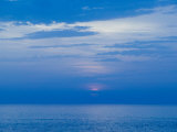 Sunset over the Tyrrhenian Sea, Forio, Ischia, Bay of Naples, Campania, Italy Photographic Print by Walter Bibikow