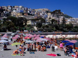 Beach Along Lungomare Caraccio at Chiaia, Naples, Italy Photographic Print by Dallas Stribley