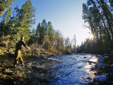 Fly-fishing the Jocko River, Montana, USA Photographic Print by Chuck Haney