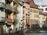 Walter Bibikow - Buildings Along Canal de Thiou, Old Town, Annecy, French Alps, Savoie, Chambery, France - Fotografik Baskı