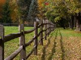 Fenceline, East Arlington, Vermont, USA Photographic Print by Joe Restuccia III