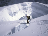 Mountaineer Crossingover a Crevase in the Khumbu Ice Fall, Nepal Photographic Print by Michael Brown